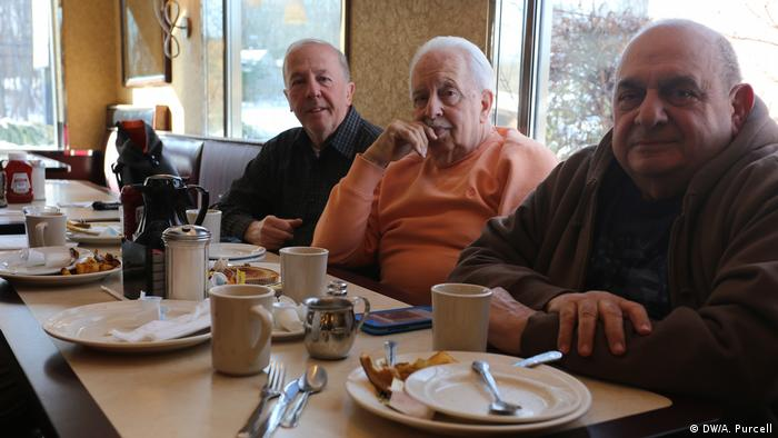 Ron Sill sits with his brothers and friends at the Valley Diner