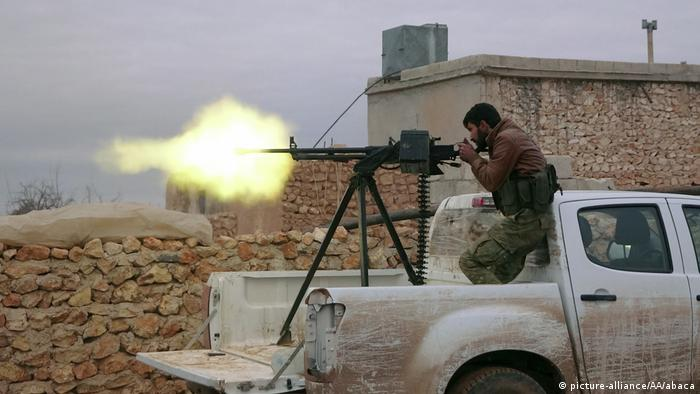 Syrien   Rebellen der Free Syrian Army während der Operation Euphrates Shield in Aleppo