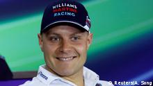 FILE PHOTO - Formula One - Chinese Grand Prix - Shanghai, China - 4/14/16 -Williams Formula One driver Valtteri Bottas of Finland smiles during a news conference at the Shanghai International Circuit ahead of the Chinese F1 Grand Prix. REUTERS/Aly Song/File Photo