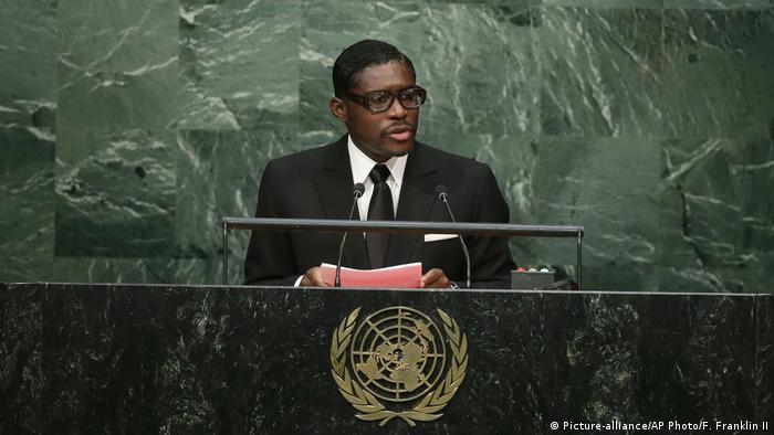 Äquatorialguinea Teodoro Obiang Nguema Mangue (Picture-alliance/AP Photo/F. Franklin II)