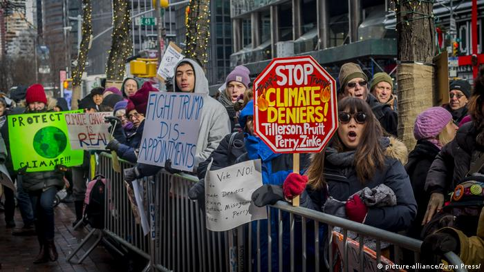 USA Protest gegen Klimapolitik Donald Trumps in New York