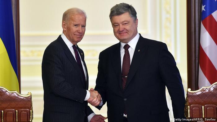 Джо Байден та Петро Порошенко під час зутрічі у Києві у січні 2017 року