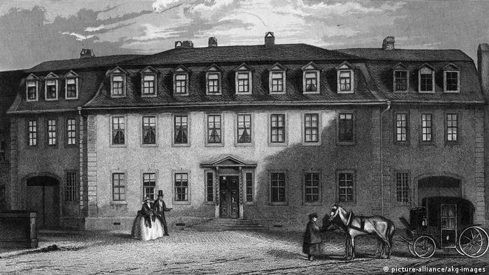 Дом Гете на гравюре 1850 года