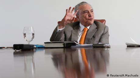 Brasilien Michel Temer (Reuters/A.Machado)