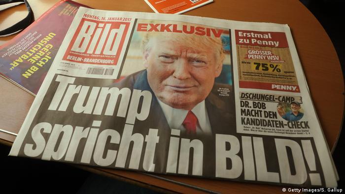 Capa do jornal alemão Bild