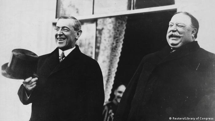 US Präsidenten Amtseinführungen Woodrow Wilson und President Taft (Reuters/Library of Congress)