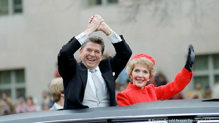 US Präsidenten Amtseinführungen Ronald und Nancy Reagan (Reuters/Ronald Reagan Presidential Library)