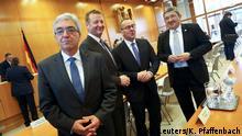 Gescheitert: Die Landesinnenminister Lorenz Caffier (Mecklenburg-Vorpommern), Boris Pistorius (Niedersachsen), Ralf Jäger (Nordrhein-Westfalen) und Roger Lewentz (Rheinland-Pfalz)