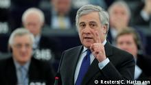 17.01.2017 +++ European Parliament's presidential candidate Antonio Tajani attends the presentation of the candidates for the election to the office of the President at the European Parliament in Strasbourg, France, January 17, 2017. REUTERS/Christian Hartmann