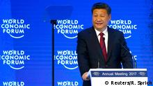 Davos Chinas Präsident Xi (Reuters/R. Sprich)