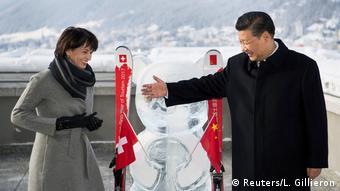 Xi with Swiss President Doris Leuthard