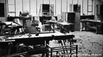Carpentry workshop at the Bauhaus in Weimar