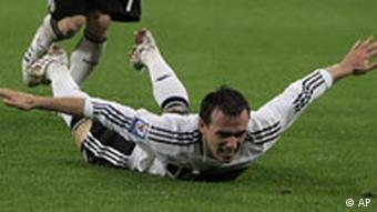 Germany's Piotr Trochowski celebrates after scoring during the World Cup group 4 qualifying soccer match between Germany and Wales in Moenchengladbach , western Germany Wednesday Oct.15 , 2008.