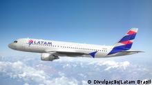 Airbus 320-200 der brasilianischen Fluggesellschaft Latam Brasil