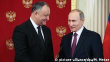 Russland Besuch Igor Dodon bei Putin
