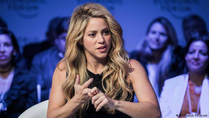 Shakira at the 2017 World Economic Forum in Davos (WEF/Jakob Polacsek)