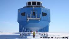 ACHTUNG: Nur zur abgesprochenen Berichterstattung verwenden! ©British Antarctic Survey Halley VI Station Antarktis