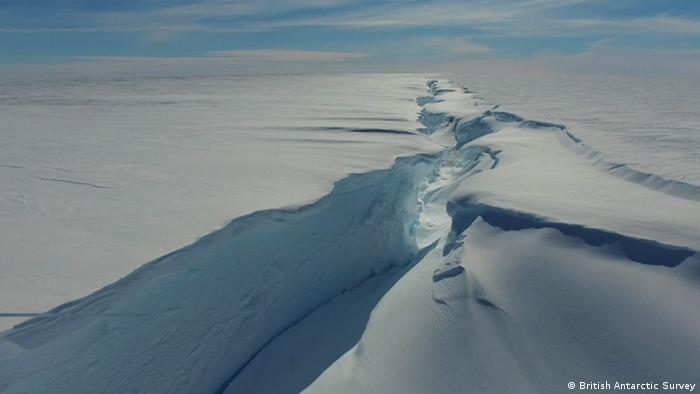 Halley VI Station Antarktis Schelfeis-Bruchkante