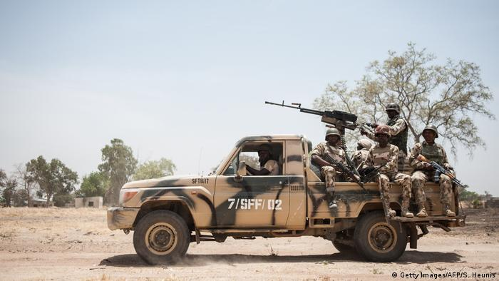 The Nigerian army patrols Borno State in the north-eastern region of the country