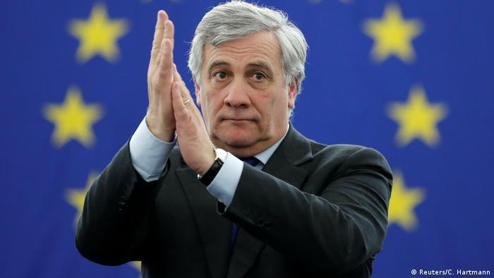 Frankreich Antonio Tajani im EU-Parlament in Straßburg (Reuters/C. Hartmann)