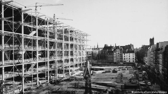 Centre Pompidou construction site, 1975 (picture-alliance/akg-images)