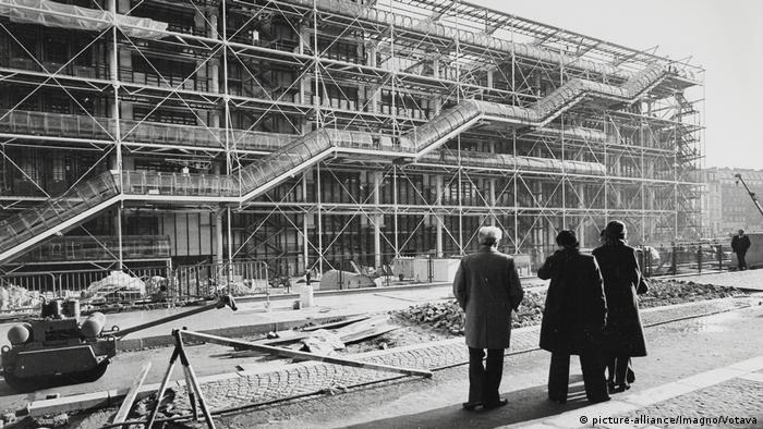 Centre Pompidou construction site in 1977 (picture-alliance/Imagno/Votava)
