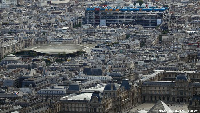 Centre Pompidou in aerial view of Paris (Getty Images/AFP/T. Samson)