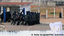Polizeieinsatz im Gefängnis Alcaçuz bei Natal