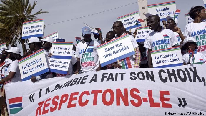 Senegal citizens protest in support of the election of Adama Barrow(Getty Images/AFP/Seyllou)