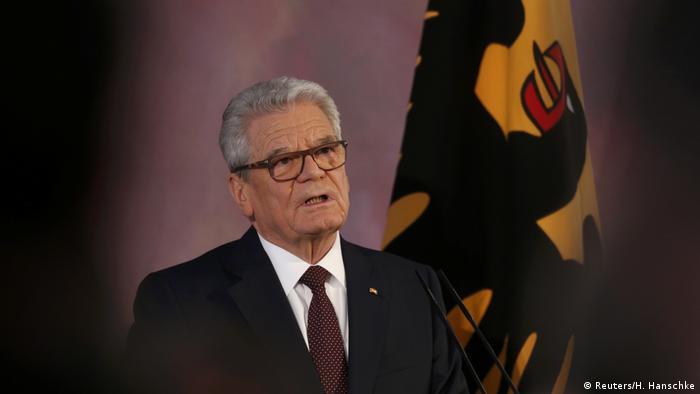 Deutschland Abschiedsrede von Bundespräsident Gauck (Reuters/H. Hanschke)