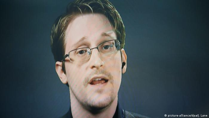 USA Edward Snowden Whistleblower Videoschalte aus Moskau (picture-alliance/dpa/J. Lane)