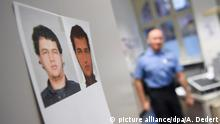 A police officer and a photo of Anis Amri (picture alliance/dpa/A. Dedert)