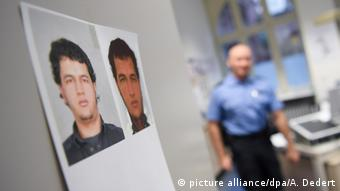 Photo of Anis Amri in a police station (picture alliance/dpa/A. Dedert)