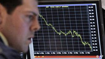Specialist Joseph Morelli works on the floor of the New York Stock Exchange Wednesday, Oct. 15, 2008.