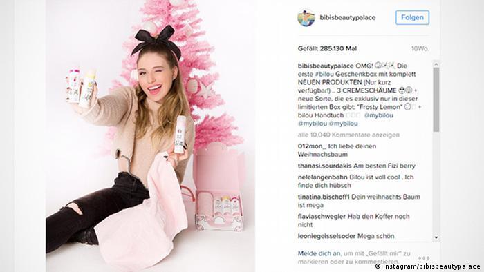Screenshot Instagram bibisbeautypalace