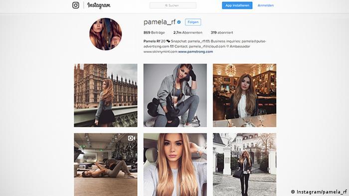 Screenshot Instagram pamela_rf