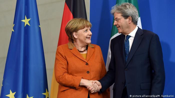 Deutschland Italien Merkel empfängt Paolo Gentiloni