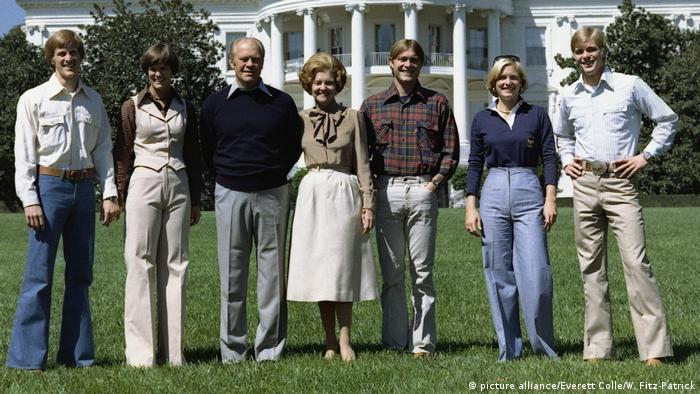 Ford family at the White House in 1976 (picture alliance/Everett Colle/W. Fitz-Patrick)