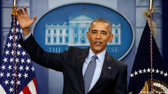 Washington Obama Letzte PK (Reuters/K. Lamarque)