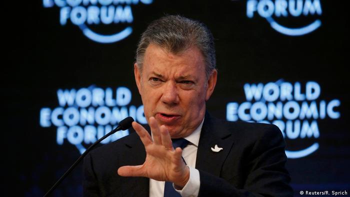 Schweiz WEF in Davos Juan Manuel Santos