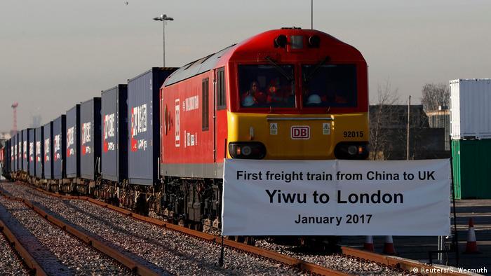 Großbritannien Erster Güterzug aus China trifft nach 18 Tagen in London ein