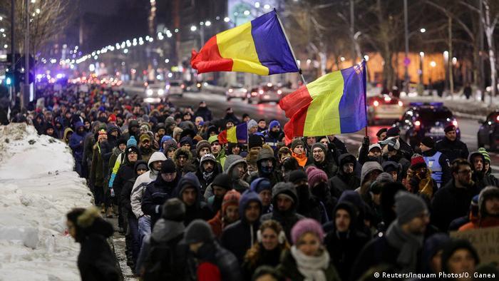 Proteste la București (Reuters/Inquam Photos/O. Ganea)