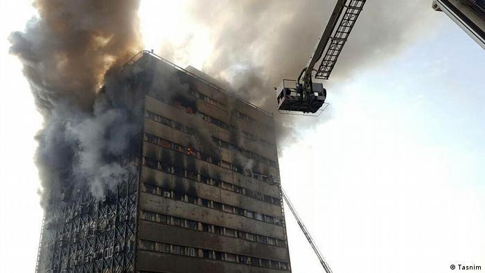 Brand im Plasco Gebäude in Tehran Iran (Tasnim)