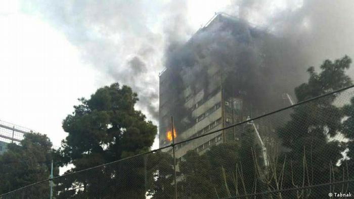 Brand im Plasco Gebäude in Tehran Iran (Tabnak)