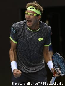 Australian Open Tennis Denis Istomin (picture alliance/AP Photo/A.Favila)