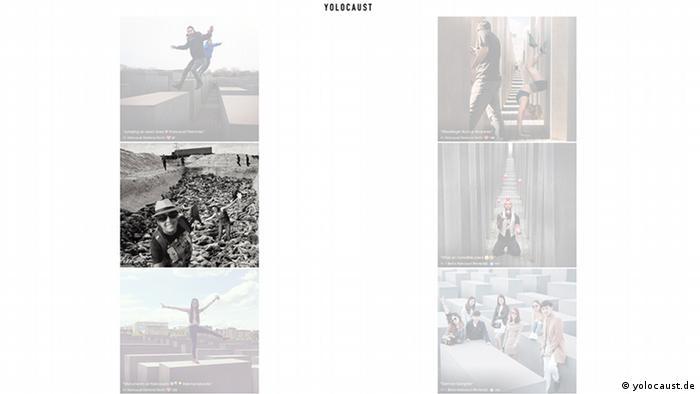 Drastische Fotomontagen auf der website Yolocaust.de von Shahak Shapira. (c) yolocaust.de