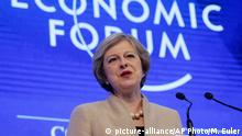 Schweiz Theresa May Brexit Rede in Davos