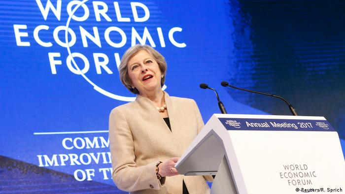 Schweiz Theresa May Brexit Rede in Davos (Reuters/R. Sprich)