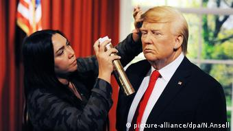 Donald Trump aus Wachs bei Madame Tussauds London (picture-alliance/dpa/N.Ansell)