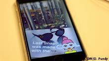 Titel: Snapchat-Kanal des Europaparlament Bildbeschreibung: Über Snapchat versucht das Europaparlament vor allem junge Europäer zu erreichen Datum: 19.1.2017 Schlagwörter: EU, Europaparlament, Social Media, Soziale Medien, Technologie, Politik, Jugend, Snapchat Rechte: Doris Pundy/DW